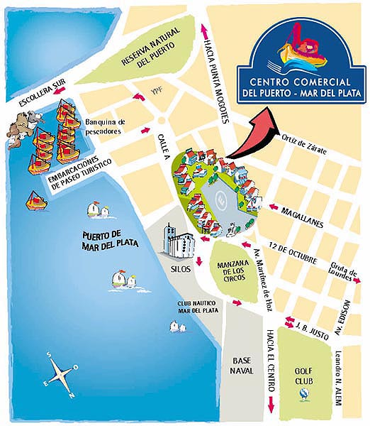 MAR DEL PLATAS PORT MAP Port Map Mar del plata